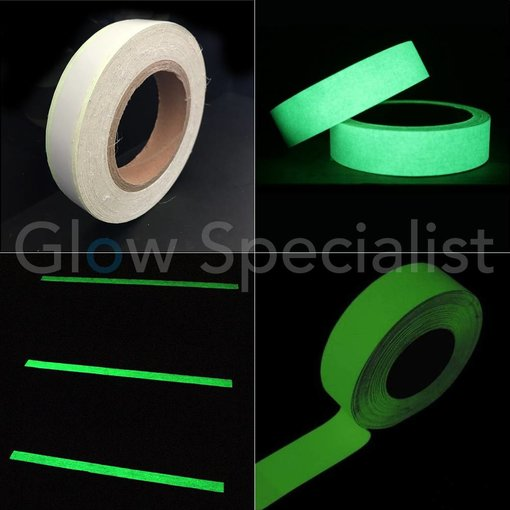 GLOW IN THE DARK ANTISLIP TAPE - 25MM x 10M