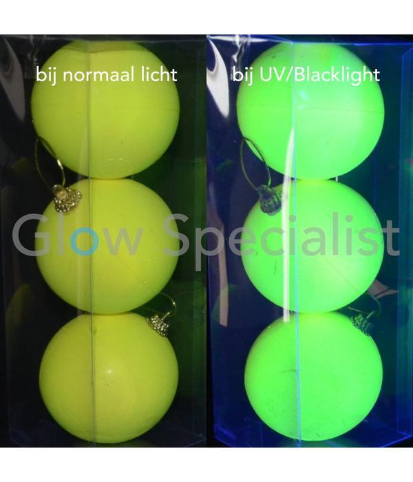 UV NEON DECO (CHRISTMAS) BALL - 3-PACK