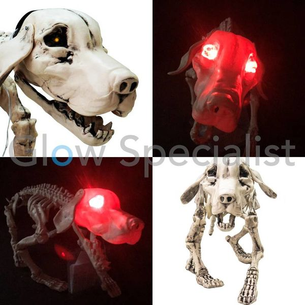 HALLOWEEN SKELETON DOG - WITH LIGHT AND SOUND
