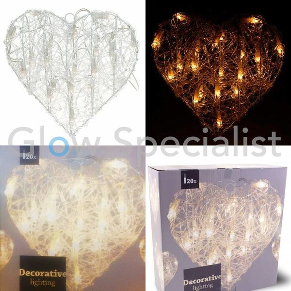 HEART SHAPED CHRISTMAS LIGHTING - 30 CM - 20 LED
