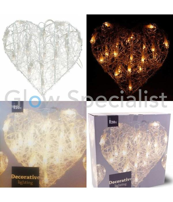 HEART SHAPED  LIGHTING - 30 CM - 20 LED
