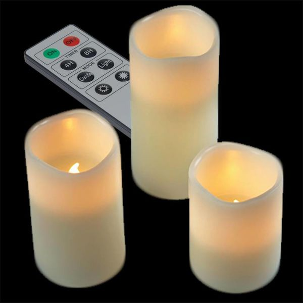LED Candle set - 3 candles Warm White
