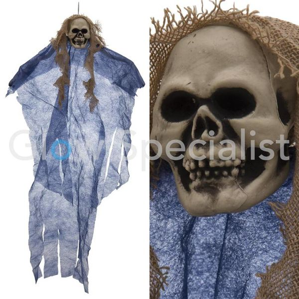 HALLOWEEN DECORATION  GHOST - BLUE - 60CM - Copy
