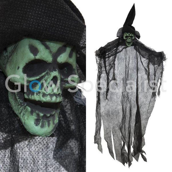 HALLOWEEN DECORATION GHOST - BLACK - 60CM