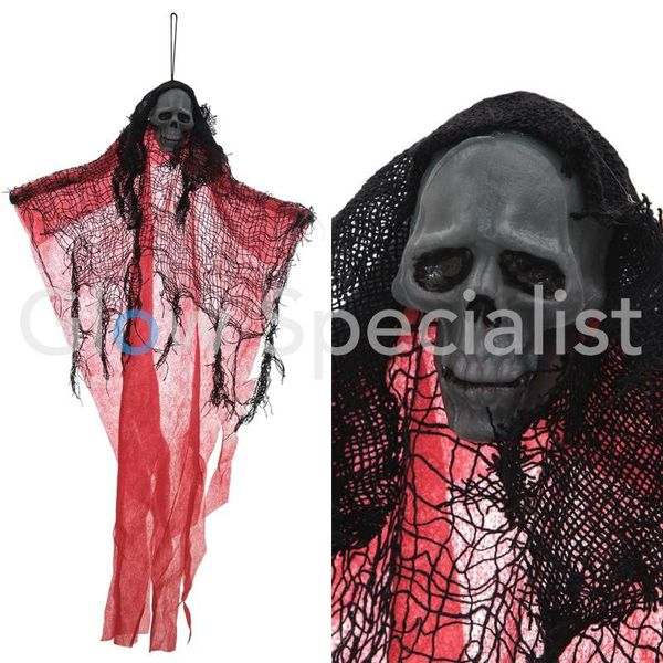 HALLOWEEN DECORATION GHOST - RED - 60CM