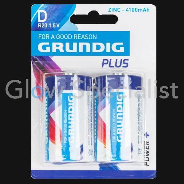 GRUNDIG BATTERIES D - R20 - 1.5V PLUS - 2-PACK