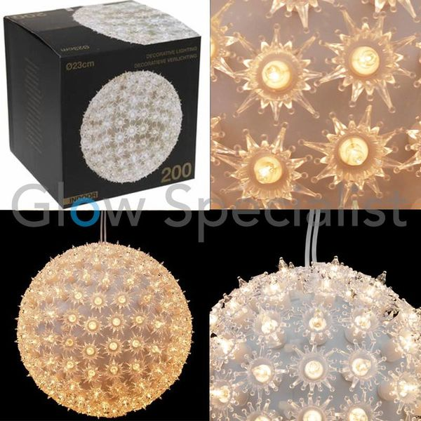 LED BAL MET 200 LAMPJES - 23 CM
