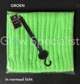 UV / BLACKLIGHT KNITTED SNOOD - NEON GREEN