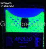 UV / BLACKLIGHT NEON SHIRT WITH BIG HOLES - YELLOW