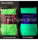 UV / BLACKLIGHT NEON LEGGING - WITH BIG HOLES - GREEN