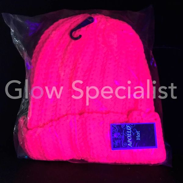UV / BLACKLIGHT GEBREIDE NEON MUTS