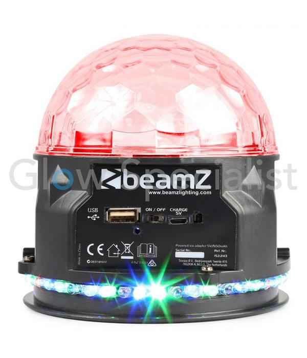 BeamZ PLS10 JELLYBALL MET BT SPEAKER EN MP3-SPELER