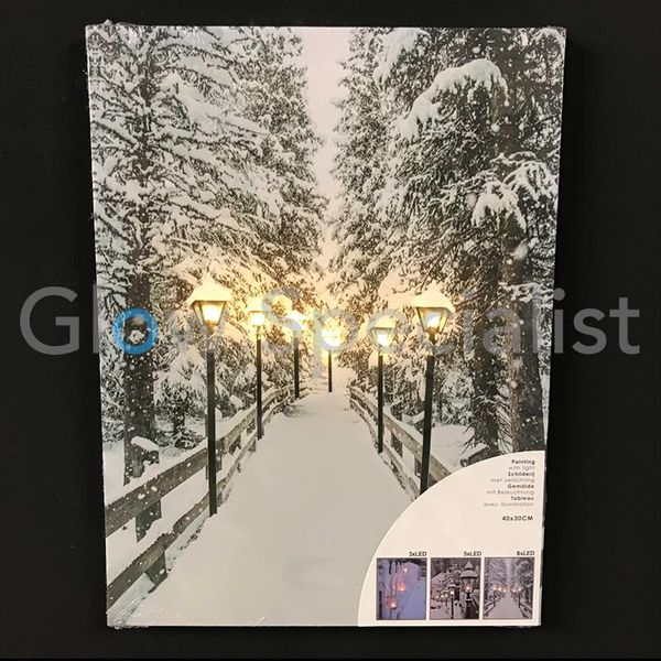 CANVAS PAINTING WITH LED 40 X 30CM - 6 LED