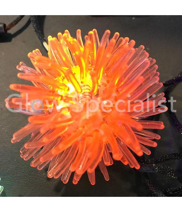 LED FLASHING SPIKE BALL ON NECKLACE