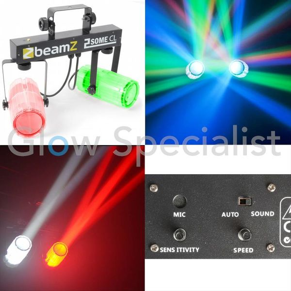 2-SOME LICHTSET 2x 57 RGBW LED TRANSPARANT