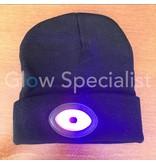 ZWARTE MUTS MET  WIT EN MULTICOLOR LED - OPLAADBAAR VIA USB