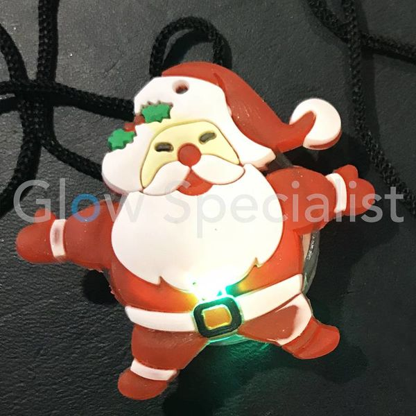 LED SANTA ON NECKLACE