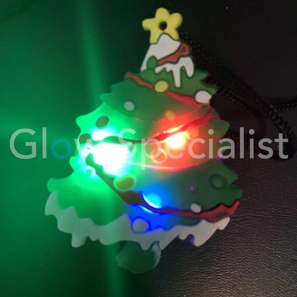 LED CHRISTMAS TREE ON NECKLACE