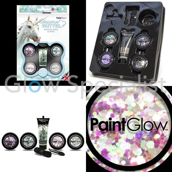 PAINTGLOW UNICORN CHUNKY GLITTER GIFT SET FOR FACE, BODY & NAILS - Copy