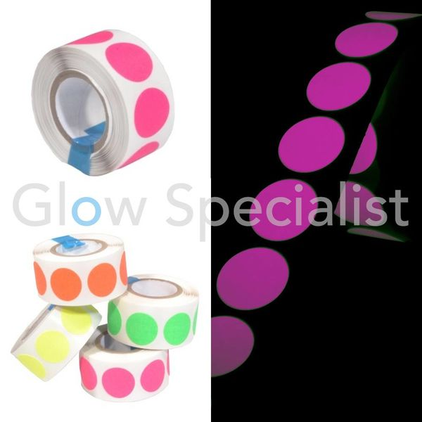 NEON GAFFA TAPE - 100 DOTS - 19 MM - PINK