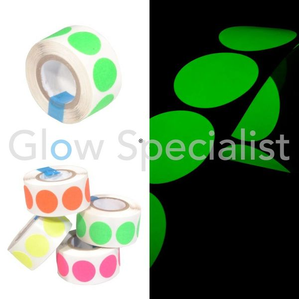 NEON GAFFA TAPE - 100 DOTS - 19 MM - GREEN