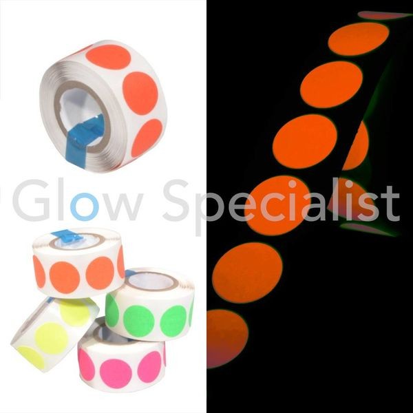 NEON GAFFA TAPE - 100 DOTS - 19 MM - ORANGE