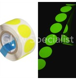 NEON GAFFA TAPE - 100 DOTS - 19 MM - YELLOW