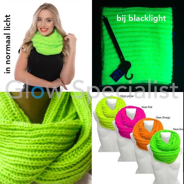 UV / BLACKLIGHT KNITTED SNOOD - NEON GREEN