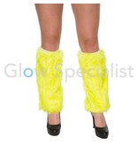 UV / BLACKLIGHT LEG WARMERS FUR - NEON YELLOW