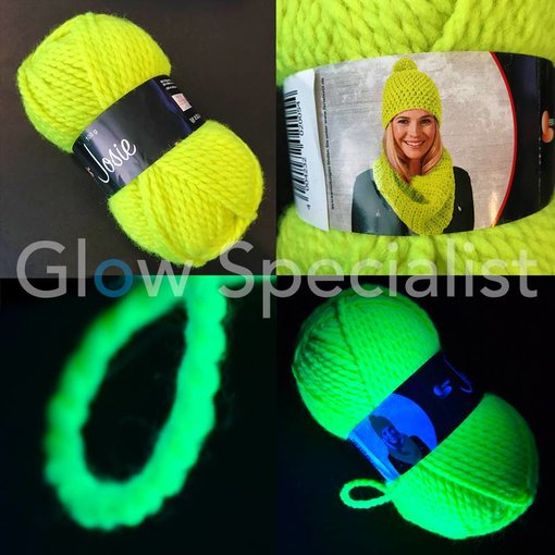 UV / BLACKLIGHT NEON GLOW WOOL - GREEN