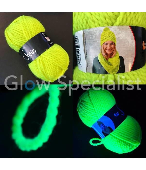 UV / BLACKLIGHT NEON GLOW WOOL - GREEN