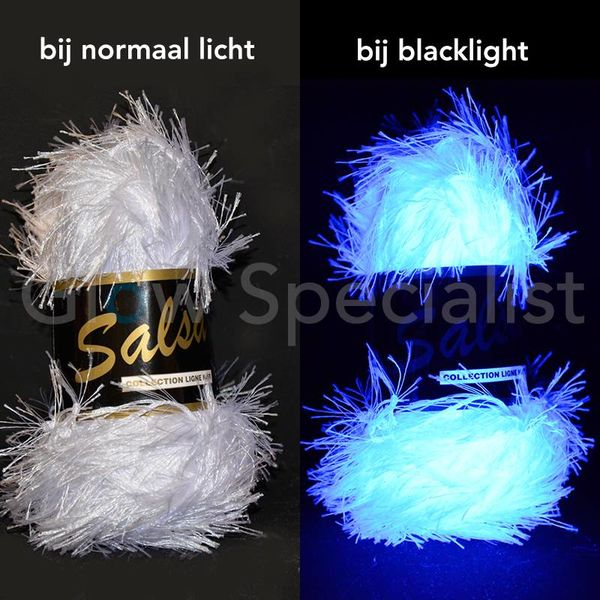 UV / BLACKLIGHT FANTASY YARN - SALSA - WHITE