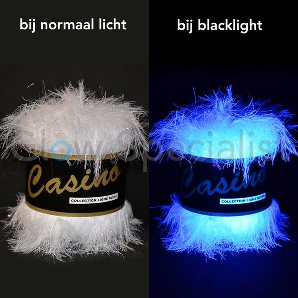 UV / BLACKLIGHT FANTASIE GAREN - CASINO - WIT