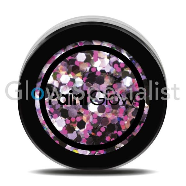 PAINTGLOW UV CHUNKY HOLOGRAPHIC GLITTER - PURPLE HAZE