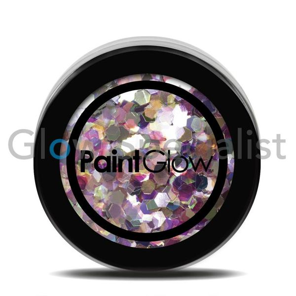 PAINTGLOW UV CHUNKY HOLOGRAPHIC GLITTER - CARNIVAL CHAOS