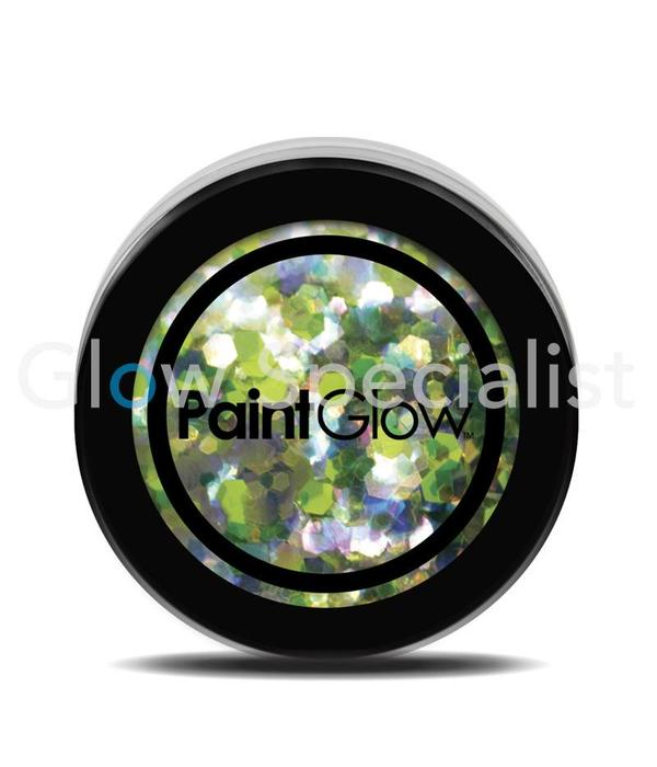 - PaintGlow PAINTGLOW UV CHUNKY HOLOGRAPHIC GLITTER - LUCKY LEPRICORN