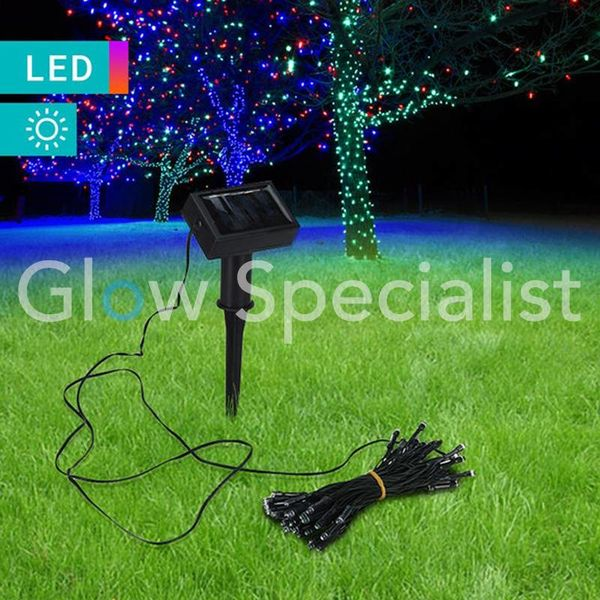 SOLAR LED VERLICHTING - 50 LED  - MULTICOLOR