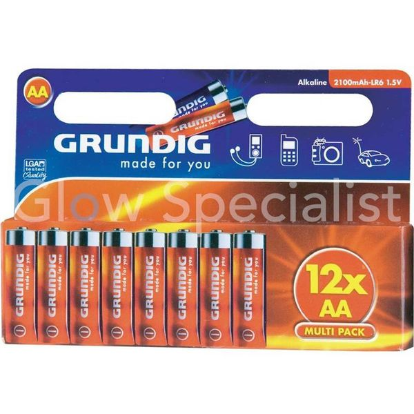 GRUNDIG LR6  BATTERIES - AA - 12 PCS (PENLITE)