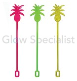 NEON COCKTAIL  STIRRING STICKS - PINEAPPLE- 10 PIECES