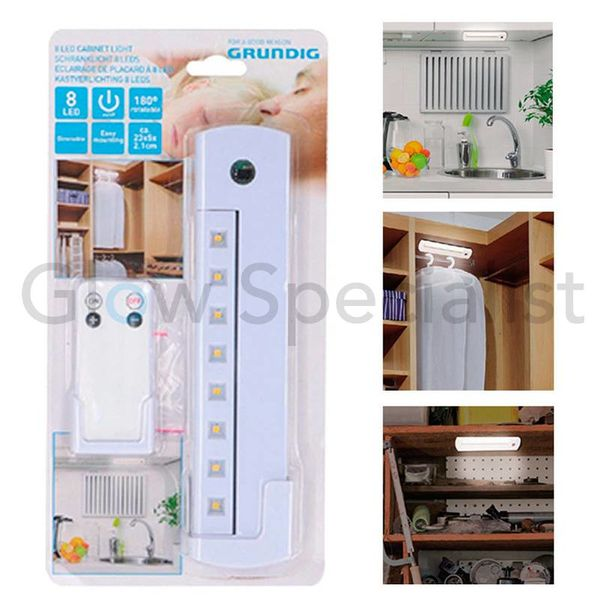 CABINET LIGHT - 8 LED - WITH REMOTE CONTROL