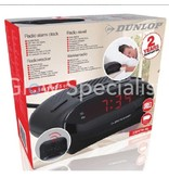 Dunlop FM ALARM RADIO WITH RED LED DISPLAY