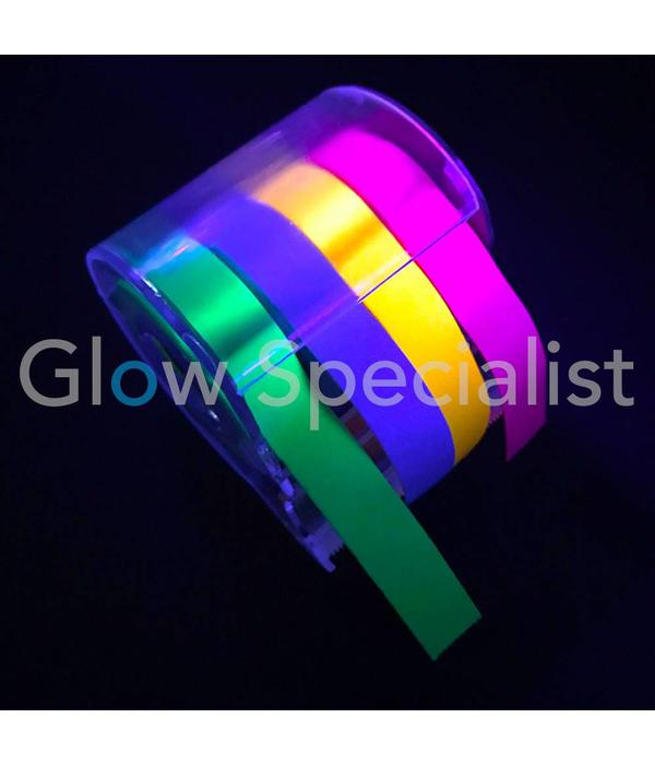 UV NEON STICKY NOTE ROLL - WITH 4 COLORS TAPE