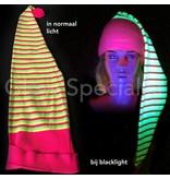 UV / BLACKLIGHT STRIPED NEON NIGHT CAP