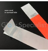 NEON TYVEK WRISTBAND - CORAL
