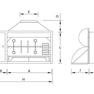 Spitbraai 1200 inbouw Surpreme de Luxe