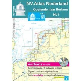 NV Verlag NV VERLAG Atlas NL1 Noordzee: Borkum tot Oostende