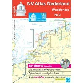 NV Verlag NV VERLAG Atlas NL2 Vaarkaart Waddenzee