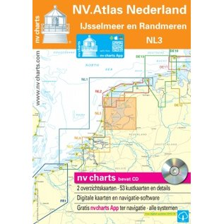 NV Verlag NV Atlas NL3 - Vaarkaart IJsselmeer en Randmeren - LEVERBAAR MAART 2016