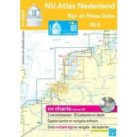 NV Verlag NV VERLAG Atlas NL4 - Vaarkaart Rijn en Maasgebied