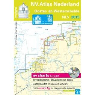 NV Verlag NV VERLAG Atlas NL5 - Vaarkaart Ooster- en Westerschelde 2017